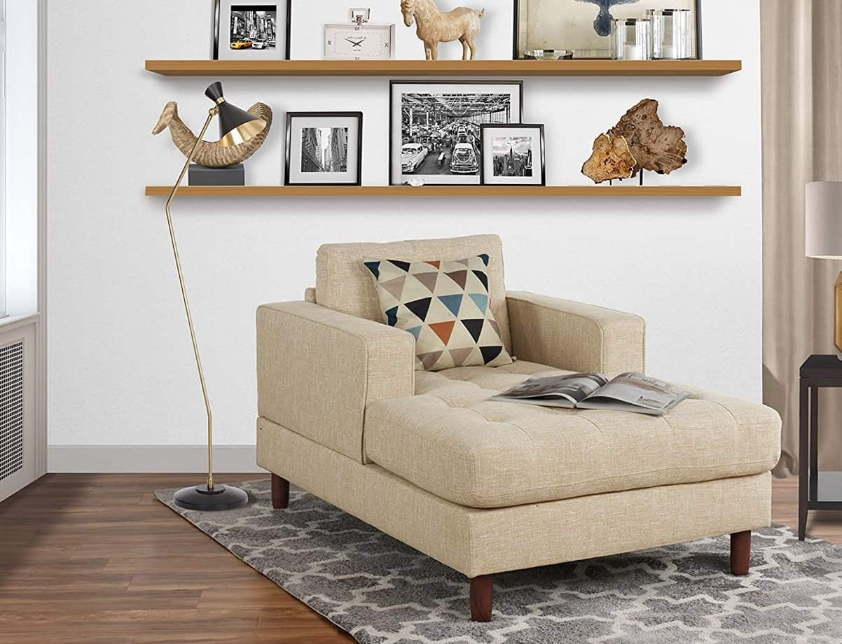 Mid Century modern reading nook from Walmart