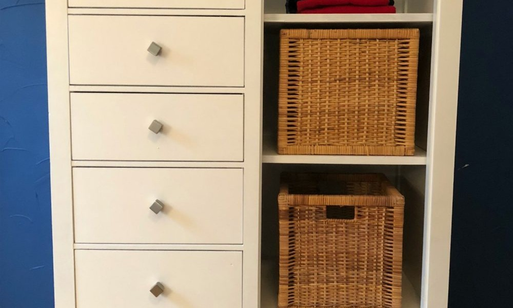 Black Dresser/Wardrobe Makeover