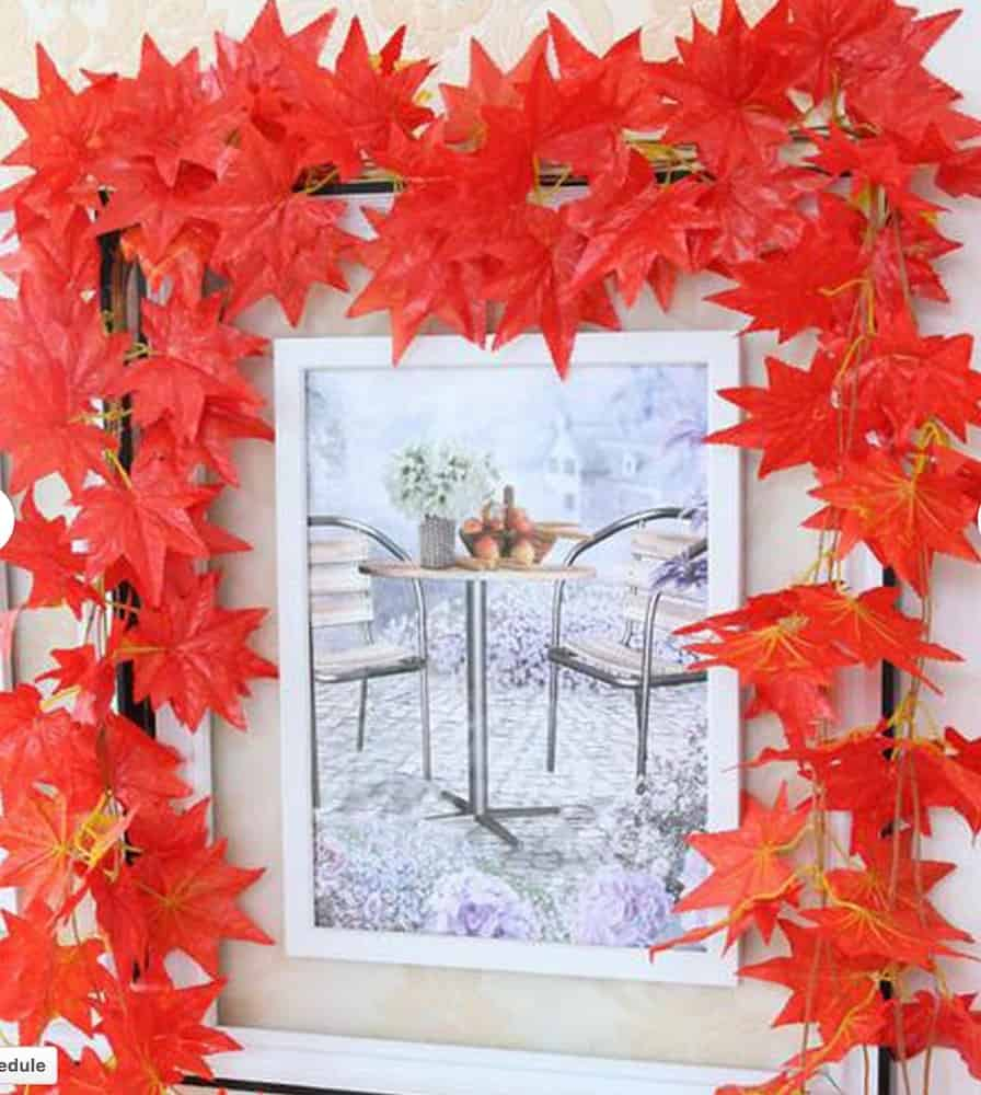 Faux maple leaf garland from ETsy