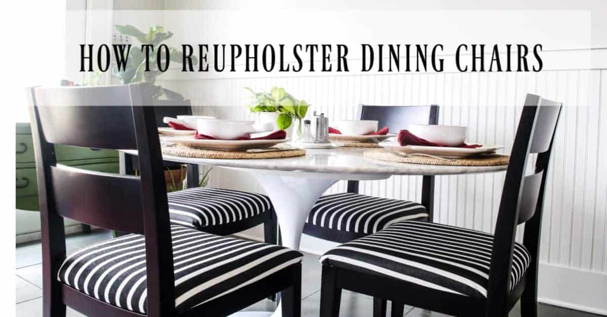 How To Reupholster Dining Chair Cushions Fast Design Morsels