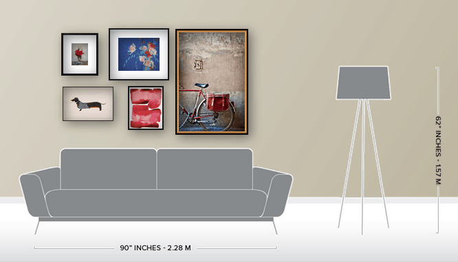 Sample gallery wall from artfully.com