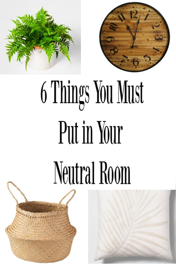 tips for decorating a neutral room