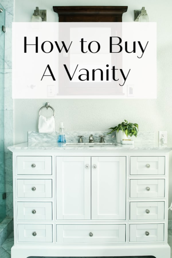 But a vanity off the shelf and save money