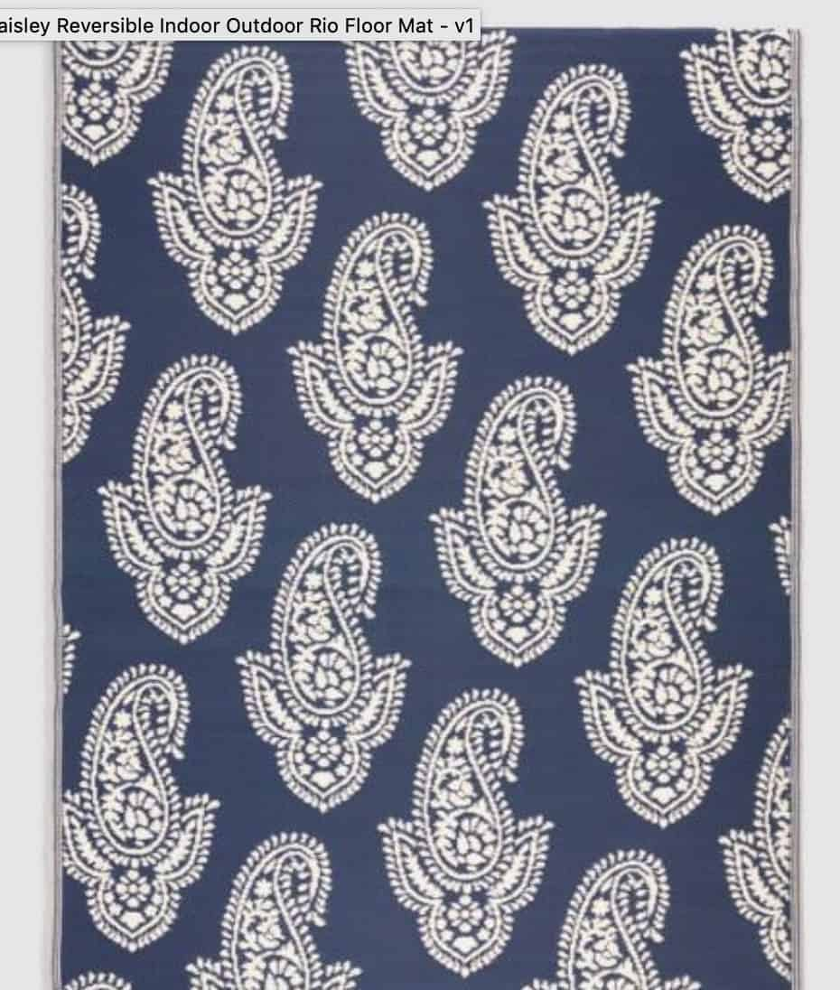 navy paisly rug