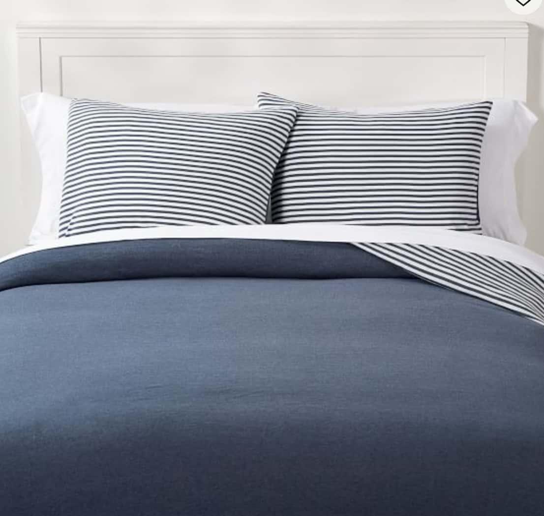 striped reversible bedding