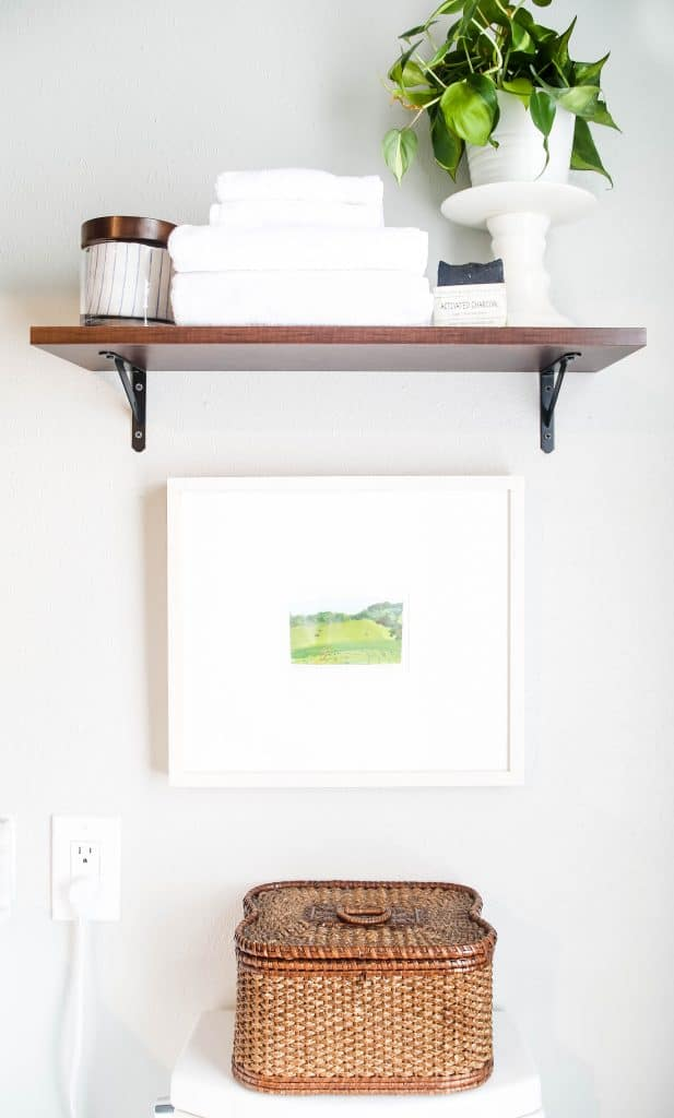 bathroom floating shelf