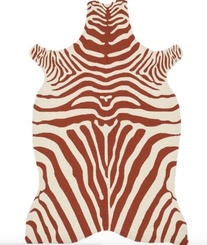 zebra outdoo rug
