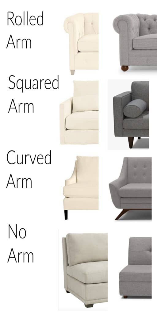 Types of Sofa Arms