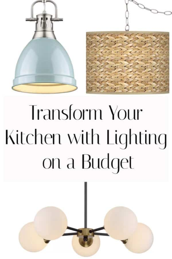 Change your kitchen's style just by changing the lighting