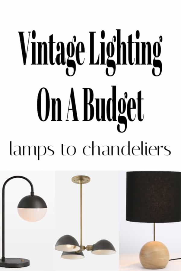 Vintage lighting on a budget