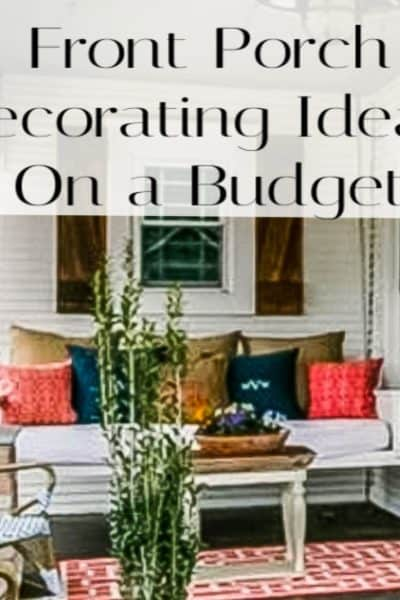 decorate your front porch on a budget