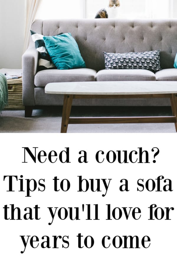 Tips for buying a couch, maybe your biggest furniture purchase.