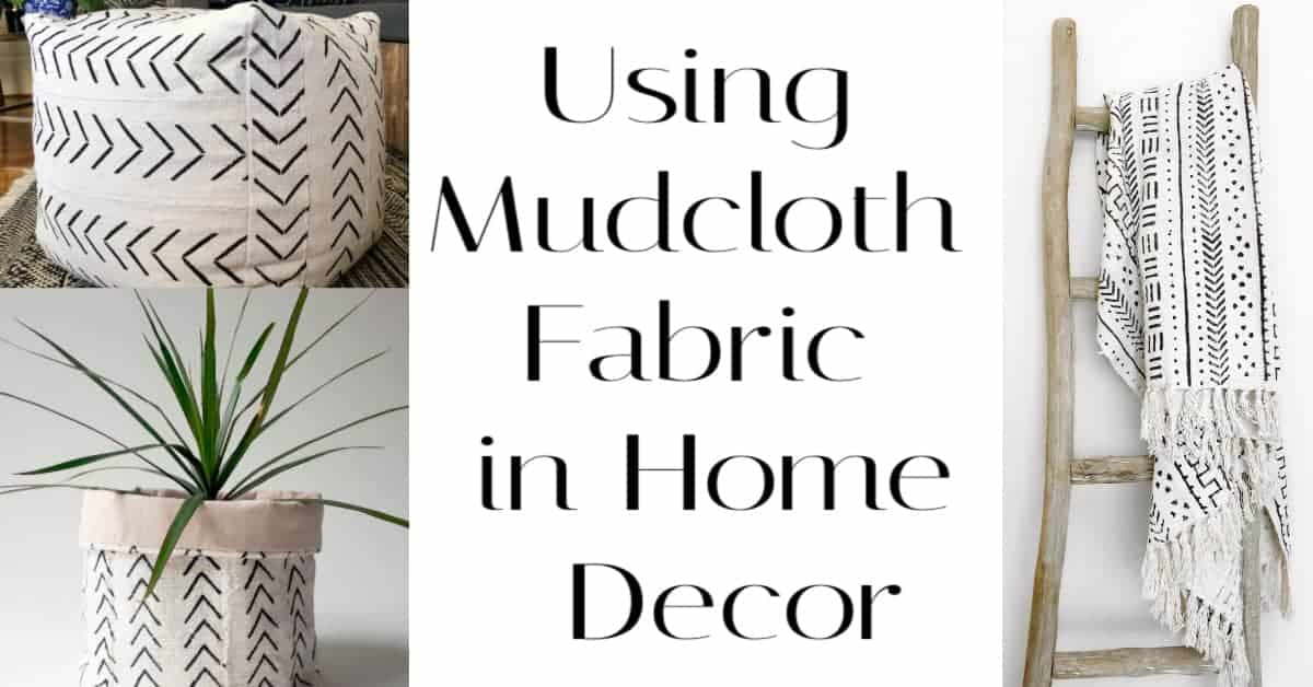 Using Mudcloth  (or ANY Bold Print) Fabric in Home Decor