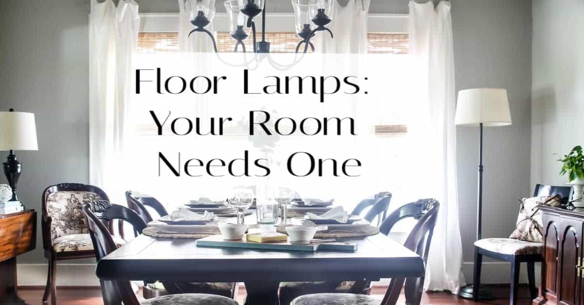 How to Brighten a Dark Room: You Need Floor Lamps!