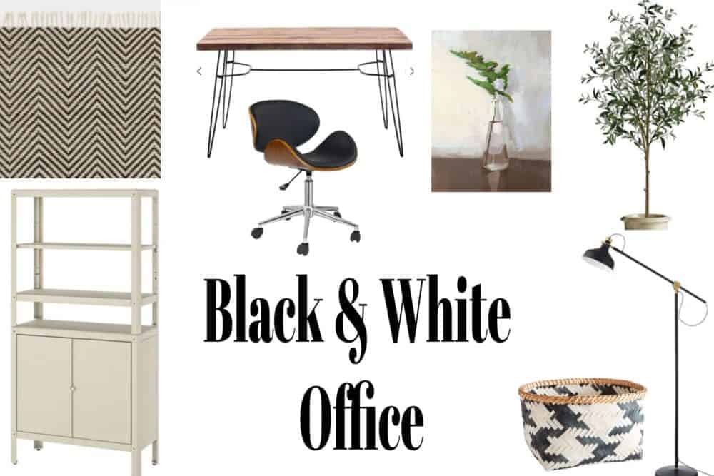 Decorate Your Office in Black and White On a Budget