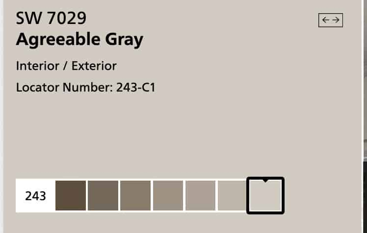 Agreeable Grey Paint Family