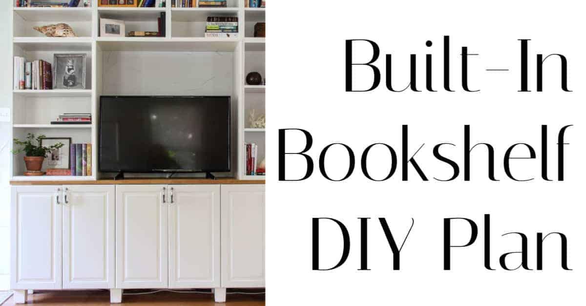 Built In Bookshelf DIY Plans