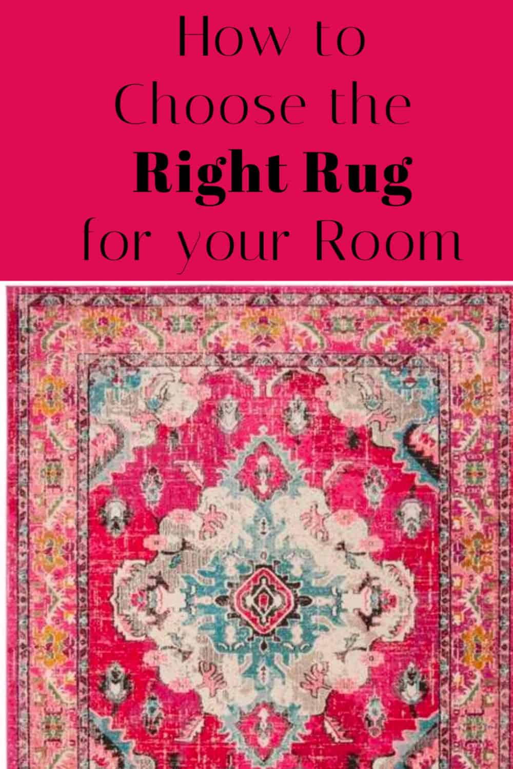 How to Choose the right rug for your room.