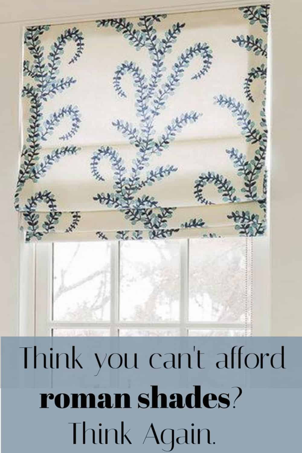 How to get roman blinds on a budget