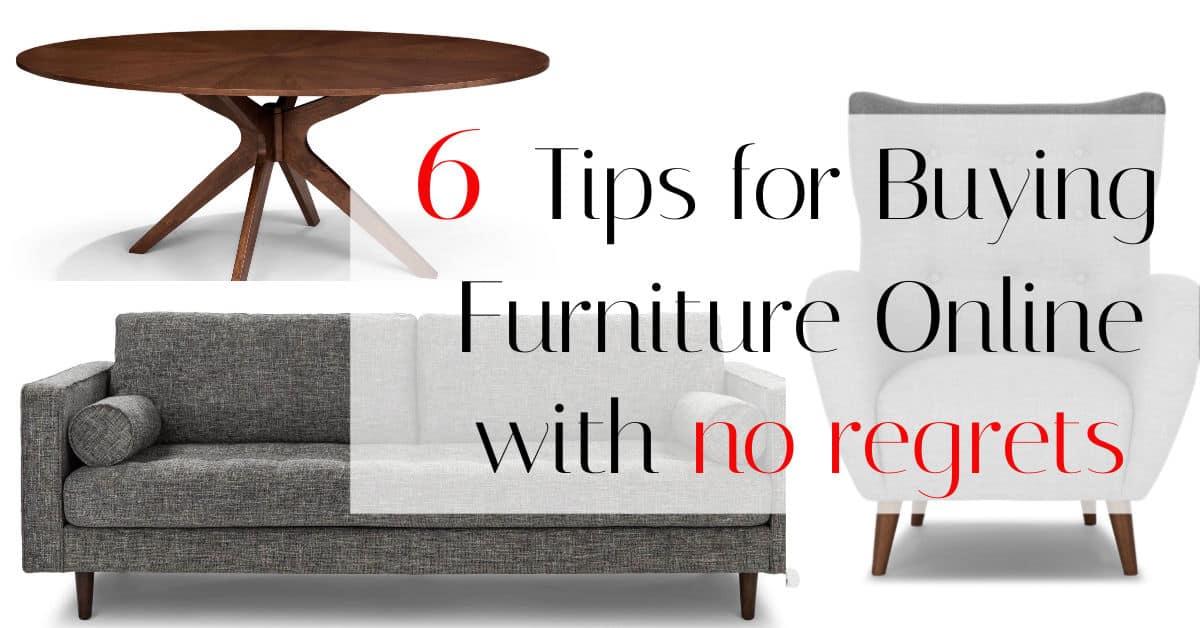 Online Furniture Buying Tips