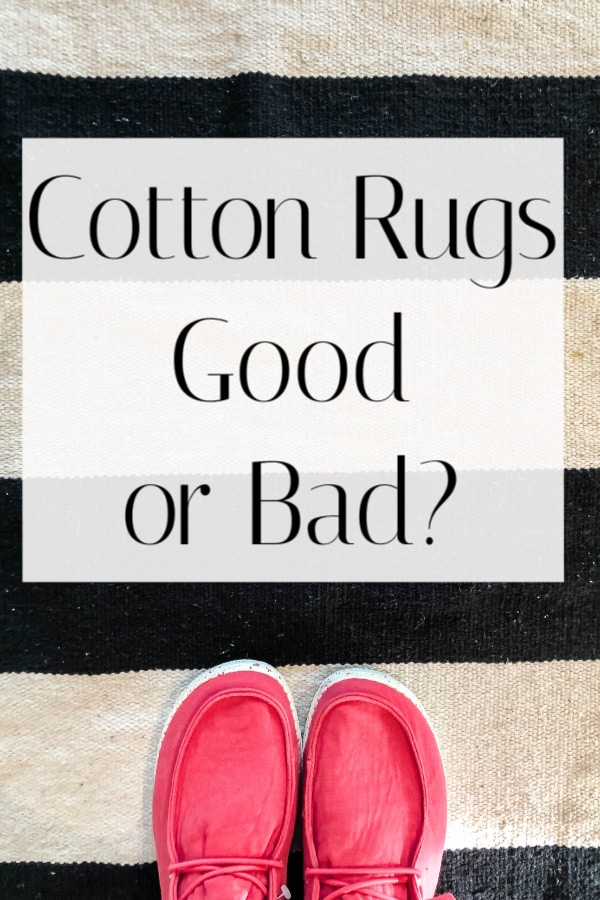 Do you need a cheap rug?  Cotton rugs are very inexpensive and they work great in some places.  Clock to read where to use them for best results/