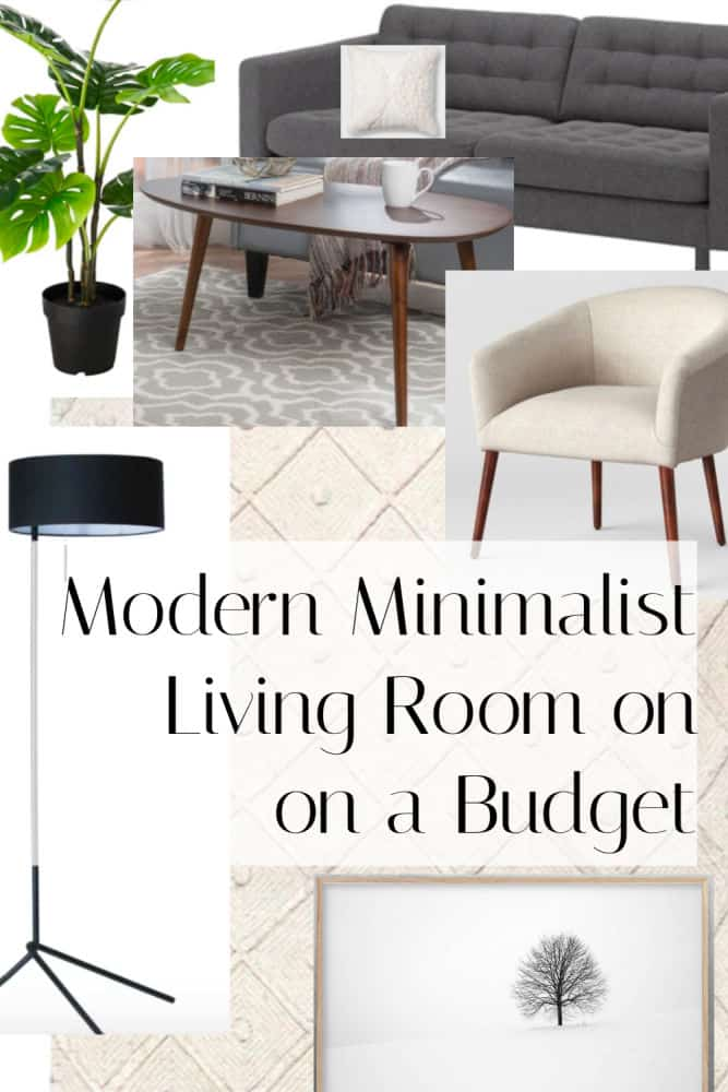 How to get a modern minimalist Scandinavian living room on a small budget