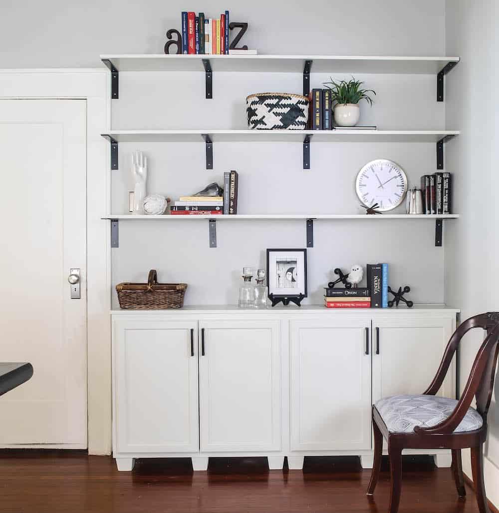 completed bookshelf