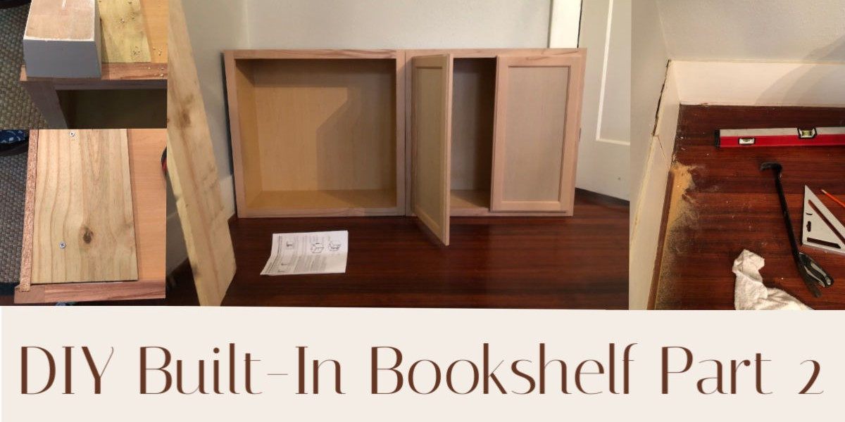 DIY Built In Bookshelf Part 2
