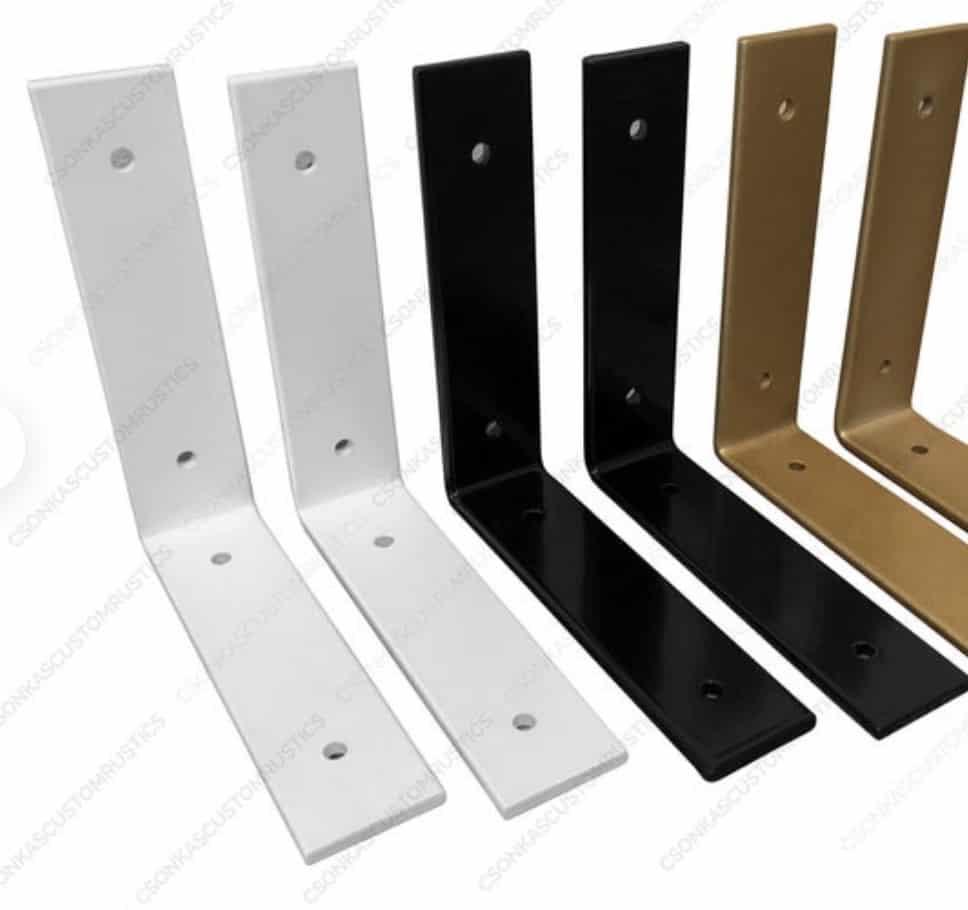 iron brackets for open shelves