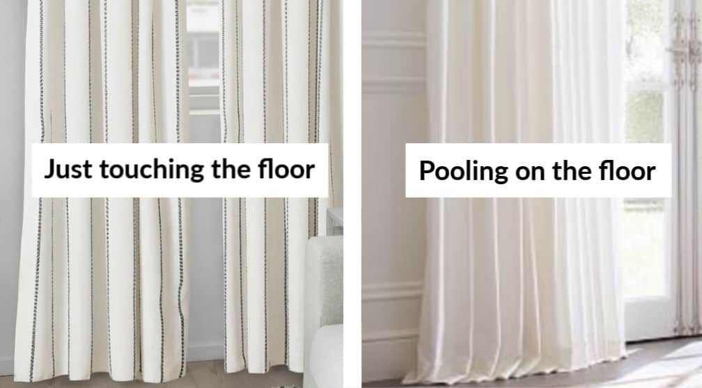 choosing the length of your curtain