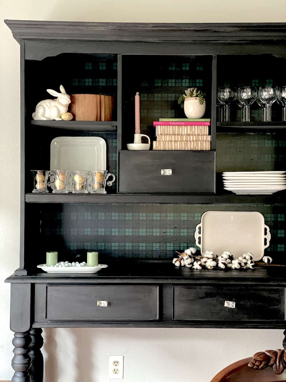 wax painted hutch