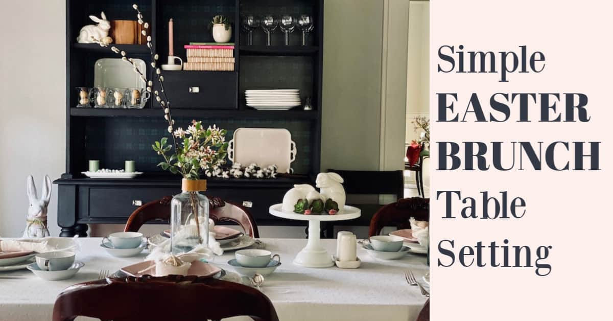 Small Easter Brunch Table Setting