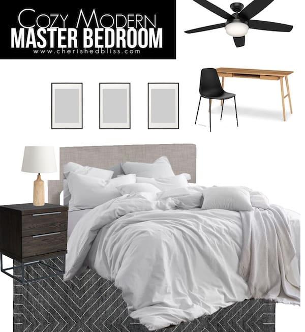 cherished bliss modern master bedroom