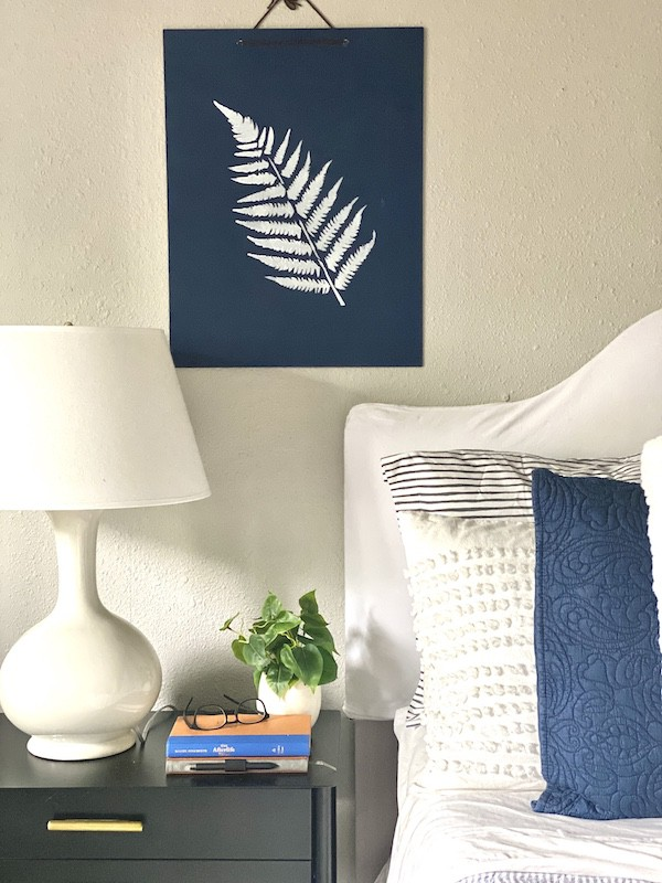 DIY fern painting