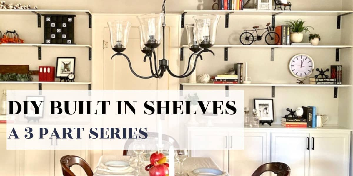 DIY Built-In Shelves