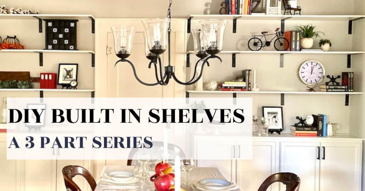DIY Built-In Shelves