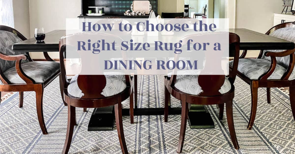 Go big or go bare – How to tell the size rug for your dining room