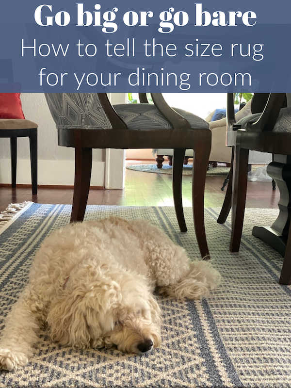 how to choose the right size rug for the dining room