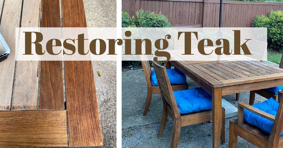 Refinishing Teak Furniture