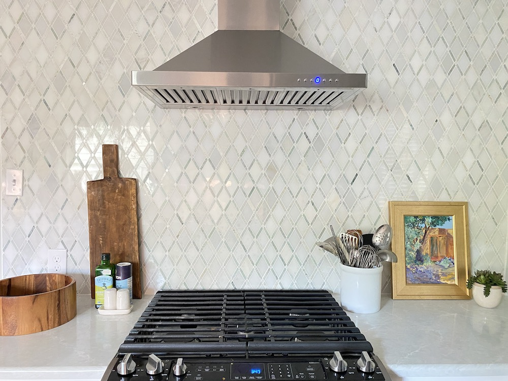 full wall tile backsplash