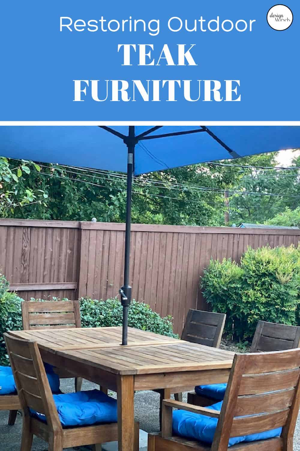 restoring teak furniture