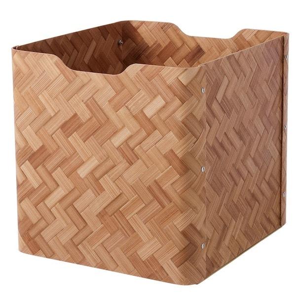 Ikea's new Bullig bamboo boxes