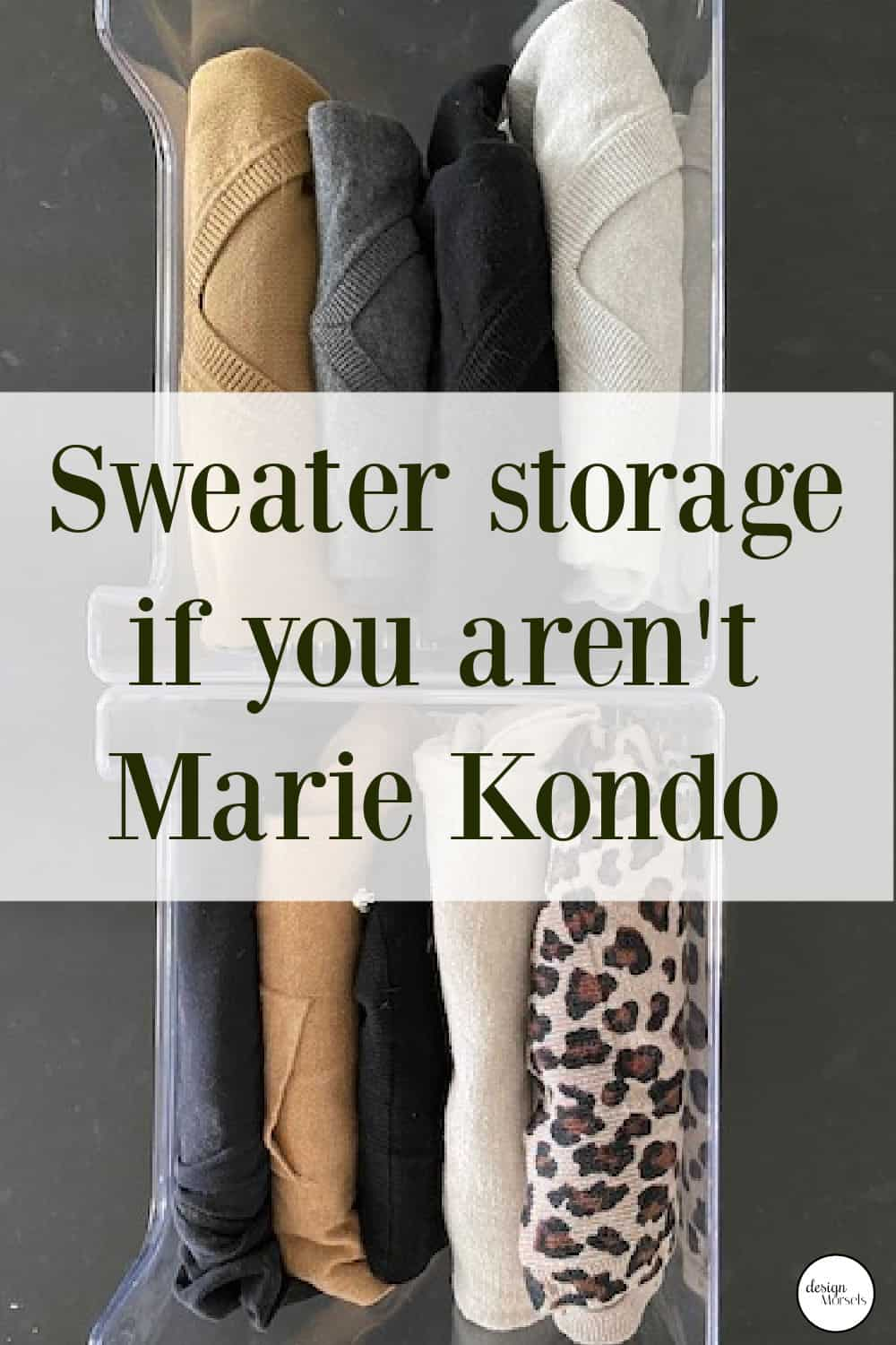 sweater storage