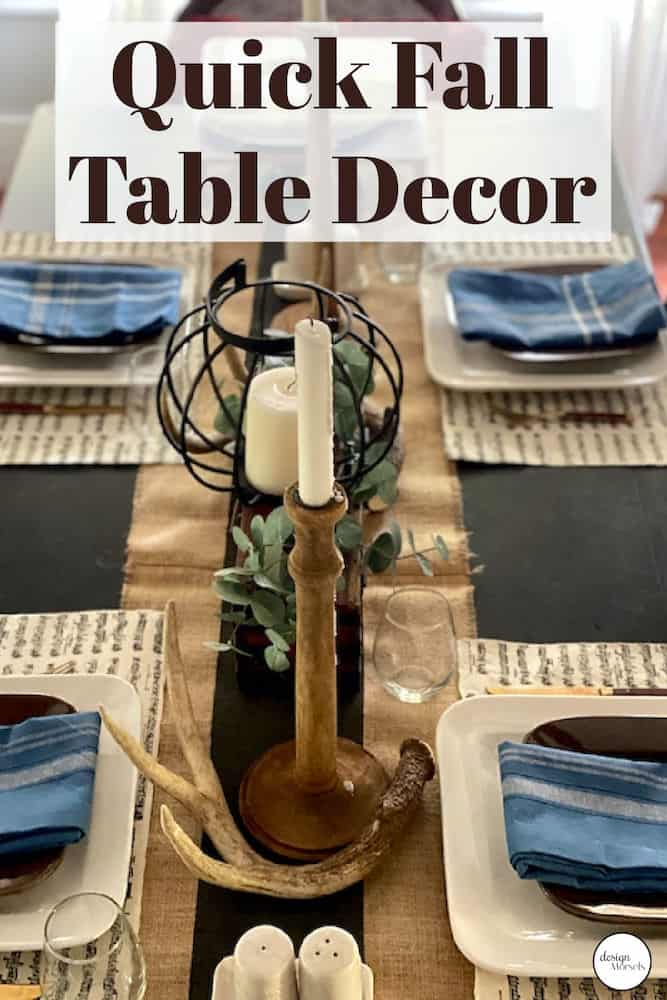 quick fall dining table