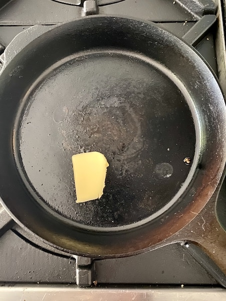 greek frittata cast iron pan