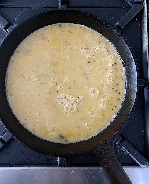 greek frittata cooking