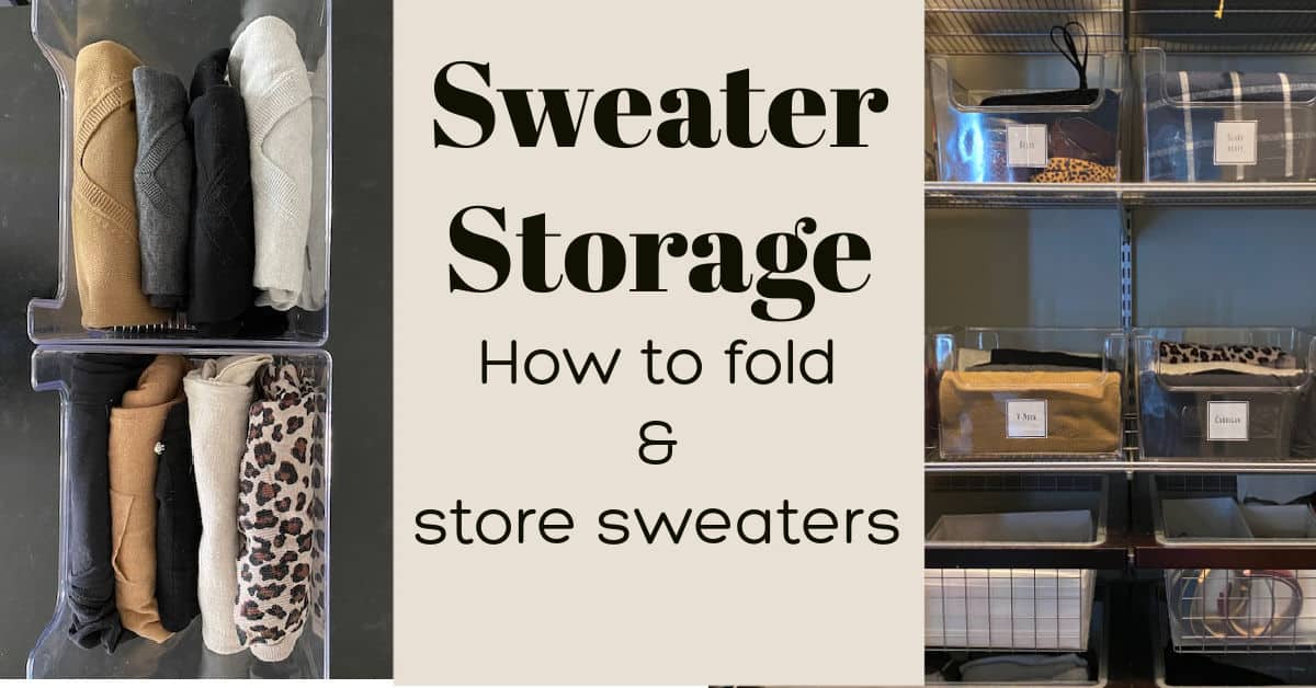 How to Store Sweaters for Ordinary Folk