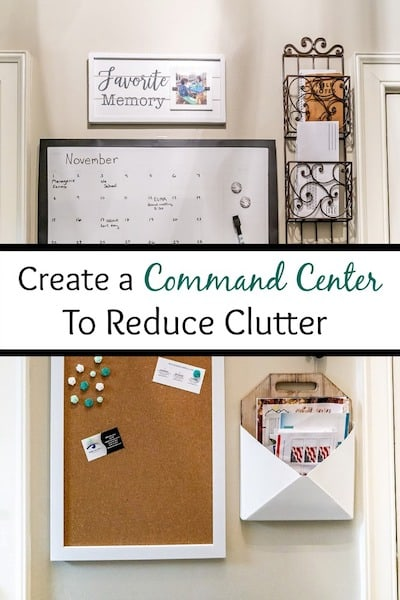 command center to reduce clutter
