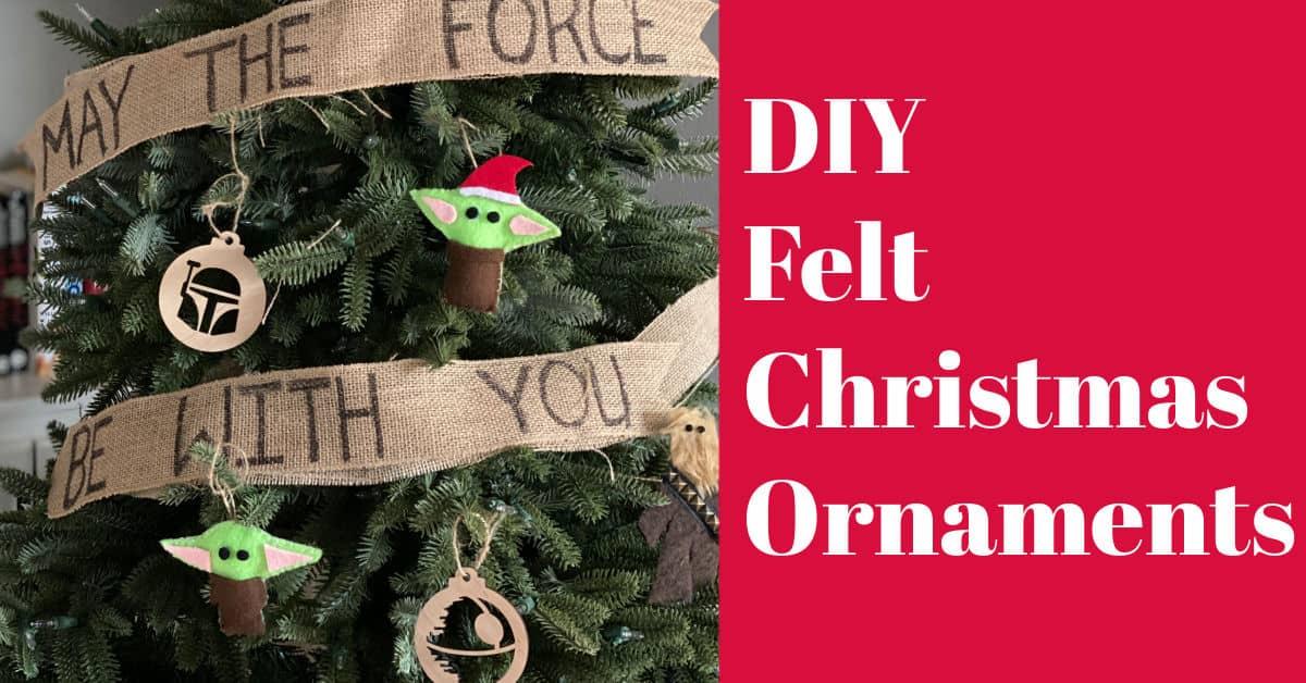 DIY Felt Ornaments – Baby Yoda