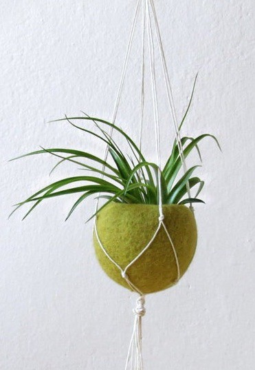 felt hanging planter